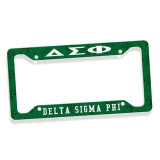 Delta Sigma Phi Custom License Plate Frame