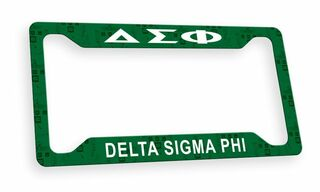 Delta Sigma Phi Custom License Plate Frame
