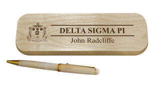 Delta Sigma Phi Maple Wood Pen Set