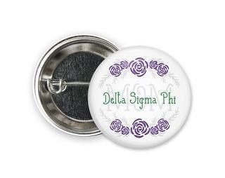 Delta Sigma Phi Mom Floral Button