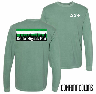 Delta Sigma Phi Outdoor Long Sleeve T-shirt - Comfort Colors