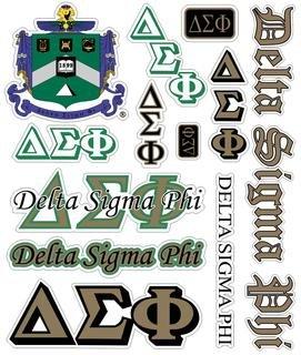 Delta Sigma Phi Multi Greek Decal Sticker Sheet