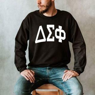 Delta Sigma Phi Arched Greek Letter Crewneck Sweatshirt