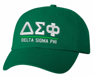Delta Sigma Phi Old School Greek Letter Hat