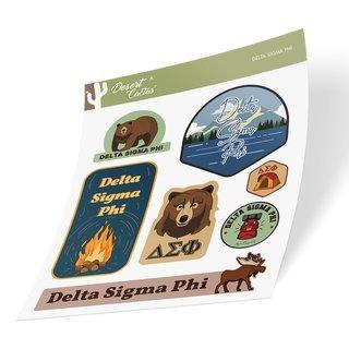 Delta Sigma Phi Outdoor Sticker Sheet