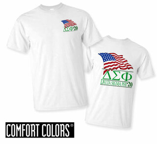 Delta Sigma Phi Patriot  Limited Edition Tee - Comfort Colors