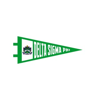 """Delta Sigma Phi Pennant Decal 4"""" Wide"""