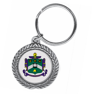 Delta Sigma Phi Pewter Key Ring