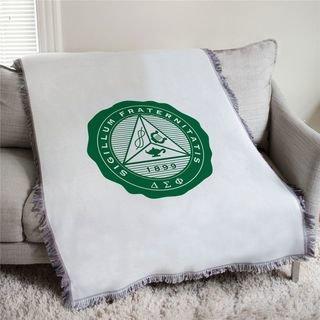 Delta Sigma Phi Seal Afghan Blanket Throw