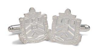Delta Sigma Phi Sterling Silver Crest Cufflinks