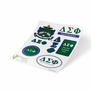 Delta Sigma Phi Traditional Sticker Sheet