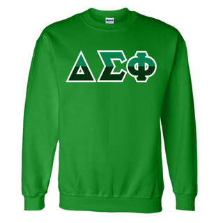 Delta Sigma Phi Two Tone Greek Lettered Crewneck Sweatshirt
