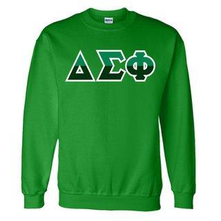 Delta Sigma Phi Two Tone Greek Lettered Crewneck Sweatshirt