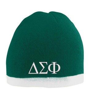 Delta Sigma Phi Two Tone Knit Beanie