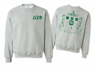 Delta Sigma Phi World Famous Crest - Shield Printed Crewneck Sweatshirt- $25!