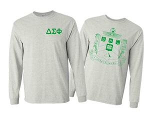 Delta Sigma Phi World Famous Crest - Shield Long Sleeve T-Shirt- $19.95!