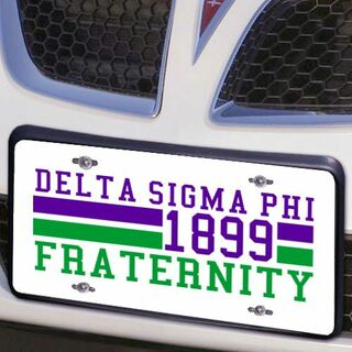 Delta Sigma Phi Year License Plate Cover
