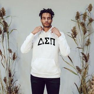 Delta Sigma Pi Arched Hooded Sweatshirt