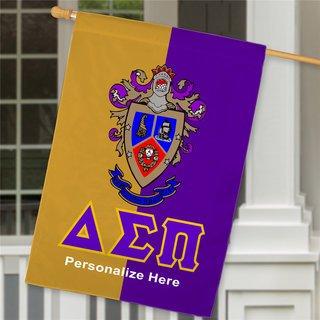 Delta Sigma Pi Crest House Flag