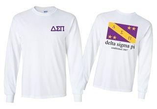 Delta Sigma Pi Flag Longsleeve T-Shirt