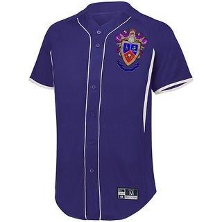Delta Sigma Pi Game 7 Full-Button Baseball Jersey