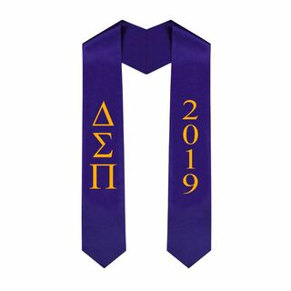 Delta Sigma Pi Greek Lettered Graduation Sash Stole With Year - Best Value