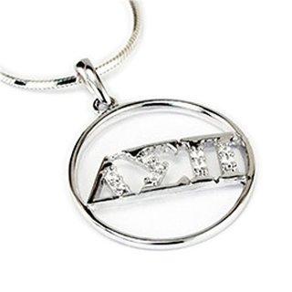 Delta Sigma Pi Sterling Silver Round Pendant