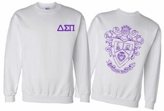 Delta Sigma Pi World Famous Crest - Shield Printed Crewneck Sweatshirt- $25!