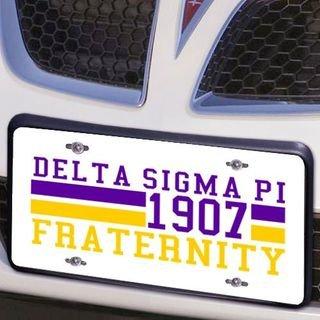 Delta Sigma Pi Year License Plate Cover