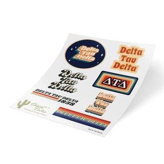 Delta Tau Delta 70's Sticker Sheet