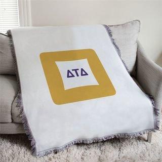 Delta Tau Delta Badge Afghan Blanket Throw