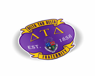 Delta Tau Delta Banner Crest - Shield Decal
