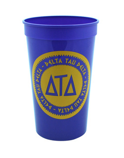 Set of 10 - Delta Tau Delta Big Ancient Greek Letter Stadium Cup - Clearance!!!