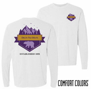 Delta Tau Delta Big Bear Long Sleeve T-shirt - Comfort Colors