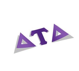 Delta Tau Delta Big Greek Letter Window Sticker Decal