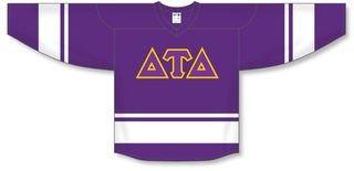 DISCOUNT-Delta Tau Delta Breakaway Lettered Hockey Jersey