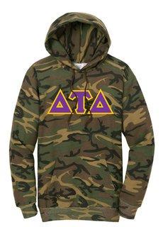 DISCOUNT-Delta Tau Delta Camo Pullover Hooded Sweatshirt