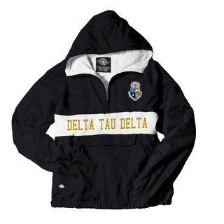 Delta Tau Delta Charles River Custom Stripe Greek Pullover Anorak