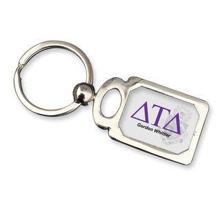 Delta Tau Delta Chrome Crest Key Chain