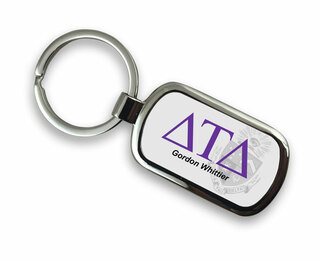 Delta Tau Delta Chrome Crest - Shield Key Chain