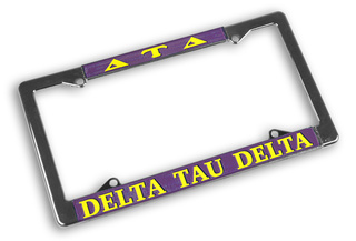 Delta Tau Delta Chrome License Plate Frames