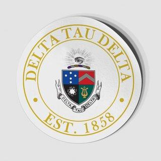 Delta Tau Delta Circle Crest - Shield Decal