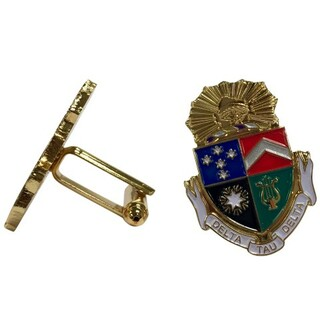 Delta Tau Delta Color Crest - Shield Cuff links