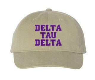 Delta Tau Delta Pigment Dyed Baseball Cap
