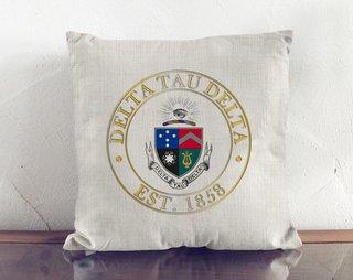 Delta Tau Delta Crest Linen Pillow