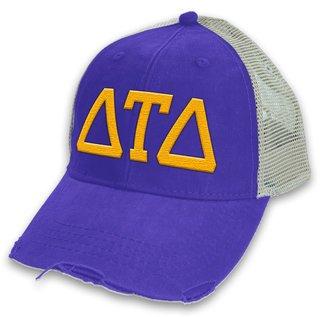 Delta Tau Delta Distressed Trucker Hat