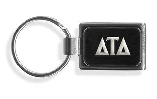 Delta Tau Delta Engraved Chrome Keychains