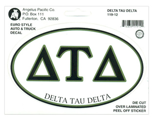 Delta Tau Delta Euro Decal Oval Sticker