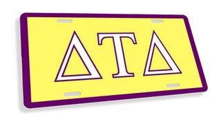 Delta Tau Delta Flag License Cover