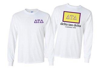 Delta Tau Delta Flag Long Sleeve T-shirt